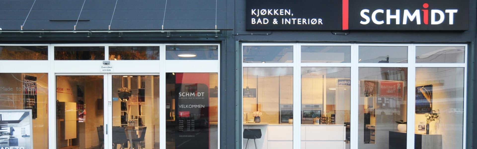 Schmidt kjøkken, bad og interiør i i Kristiansand.