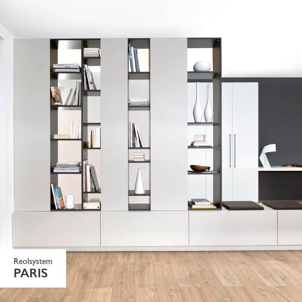 reolsystemer reolsystem til boligens mange rom schmidt. Black Bedroom Furniture Sets. Home Design Ideas