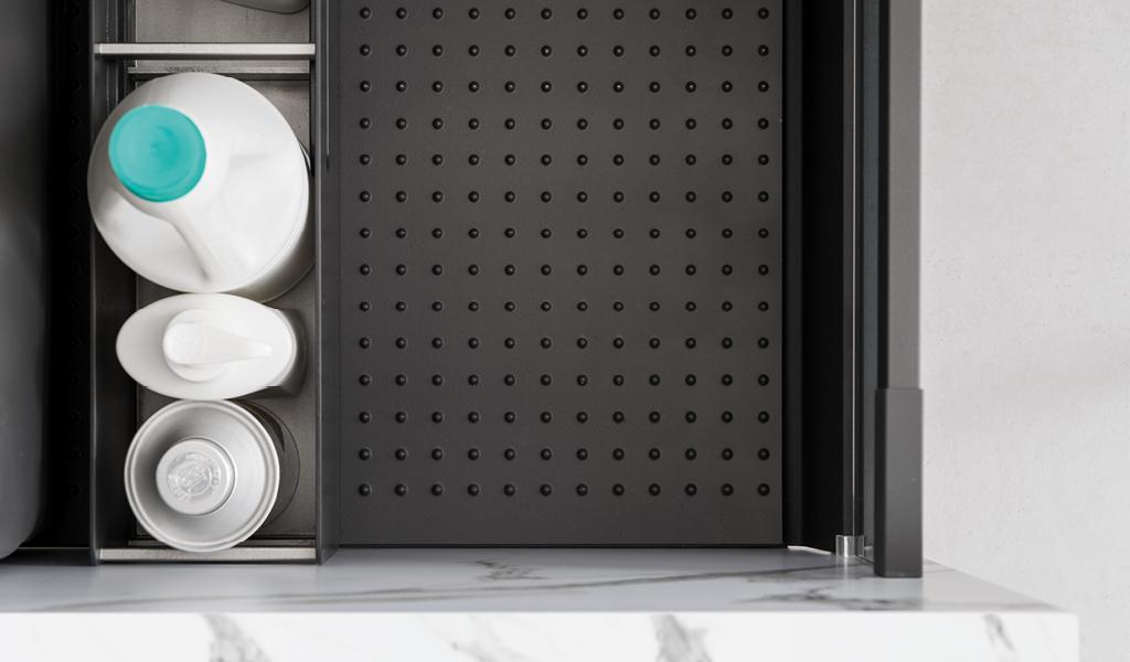 kjøkkenskuffer med gummimatter
