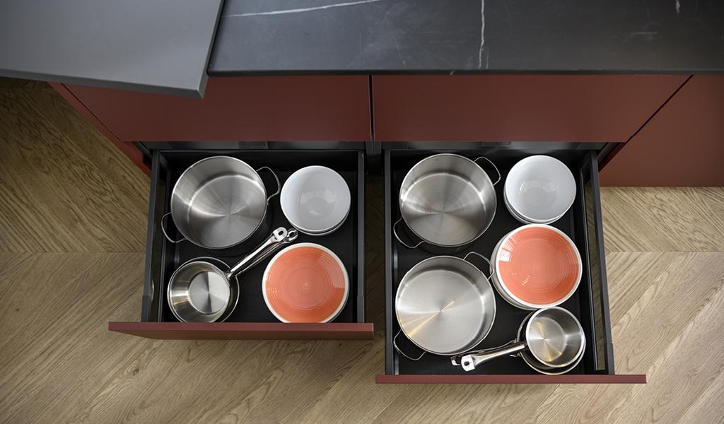 Ekstra dype kjøkkenskuffer