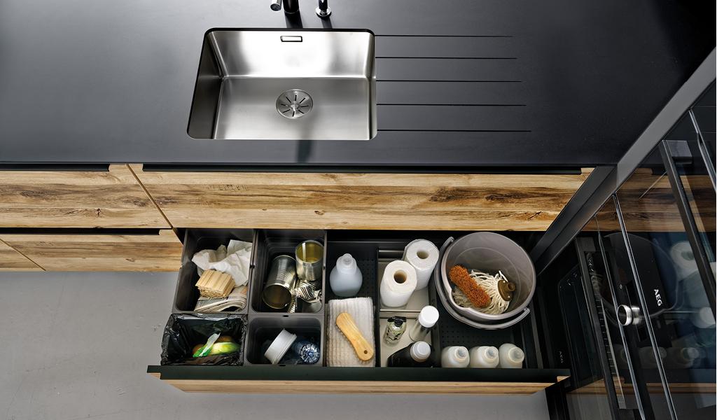 Avfall skuffeinnsats til kjøkkenet ditt