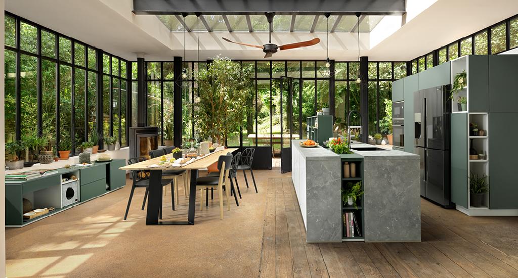 grønn kjøkken