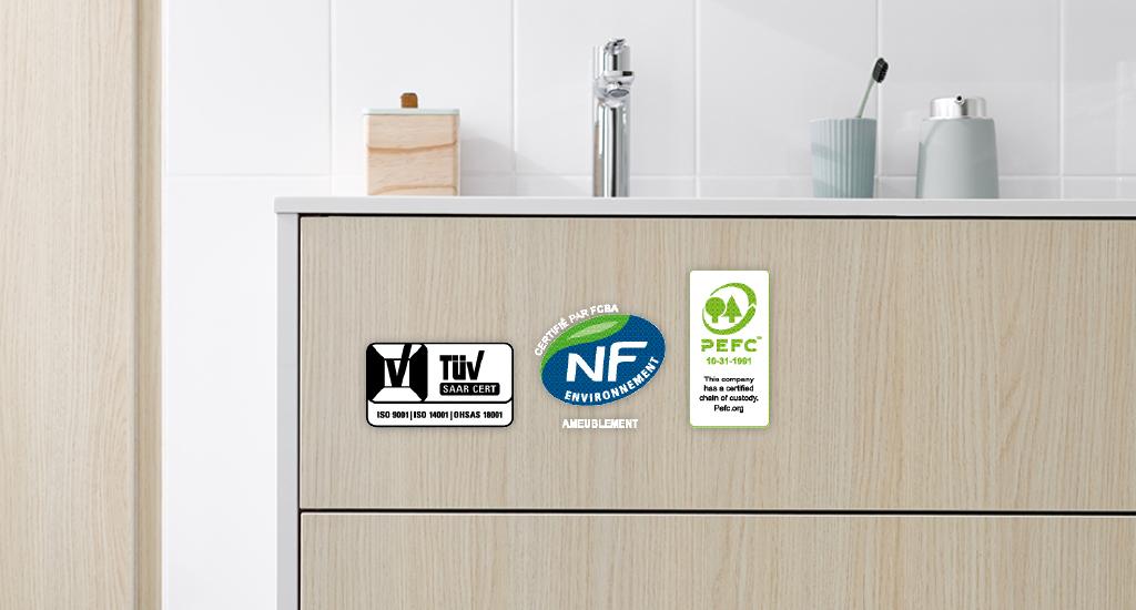 Bæredyktig produksjon av baderomsmøbler
